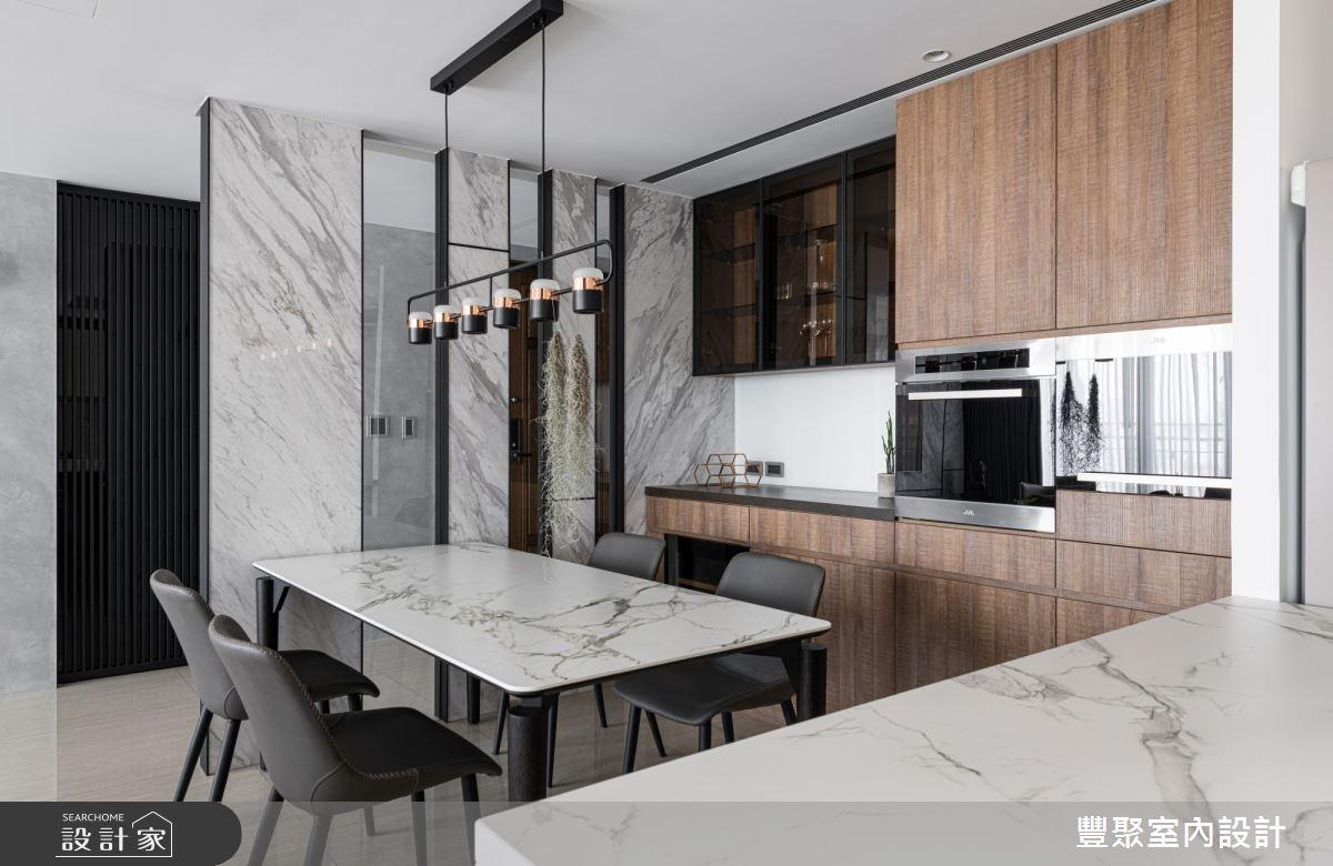 40坪新成屋(5年以下)_現代風餐廳案例圖片_豐聚室內設計_豐聚_31之11