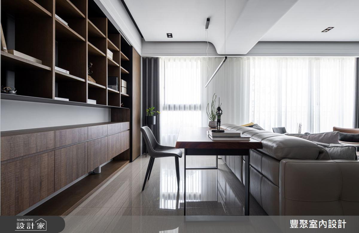 40坪新成屋(5年以下)_現代風書房案例圖片_豐聚室內設計_豐聚_31之8