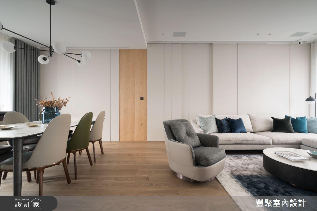 41坪新成屋(5年以下)_北歐風客廳案例圖片_豐聚室內設計_豐聚_32之2