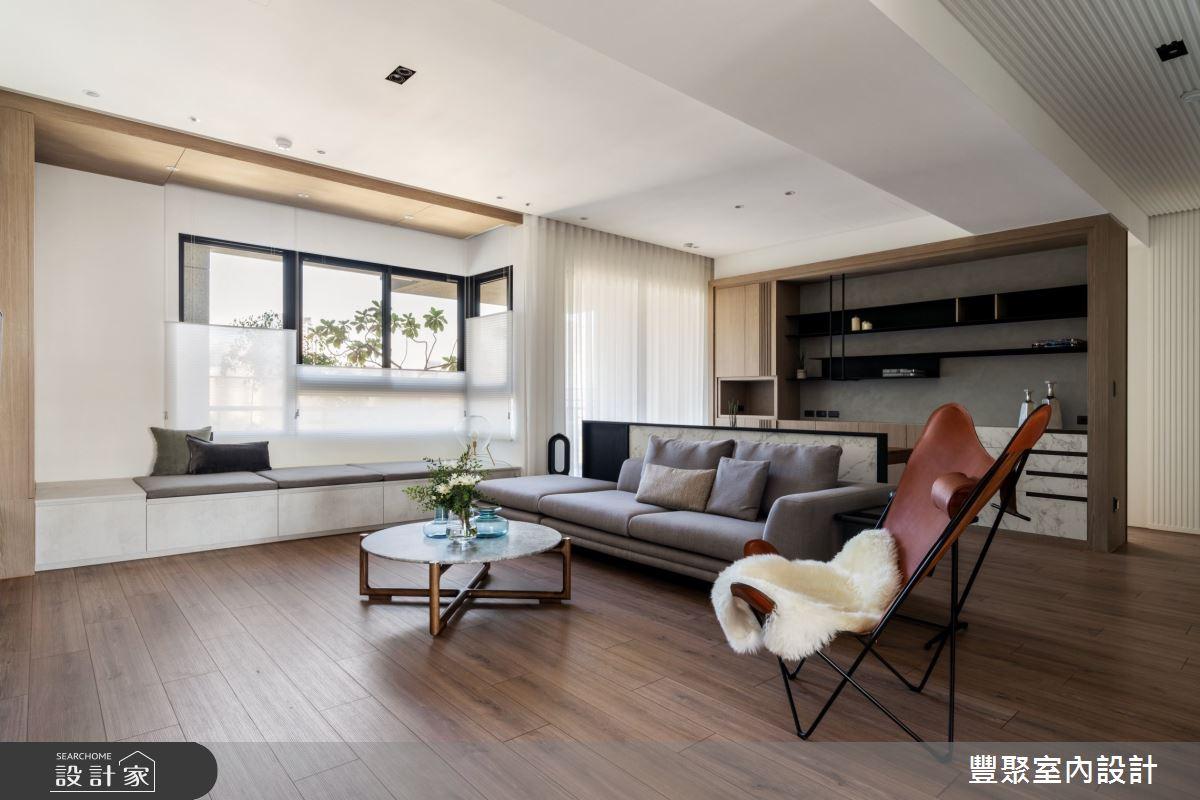 48坪新成屋(5年以下)_現代風客廳臥榻案例圖片_豐聚室內設計_豐聚_33之2