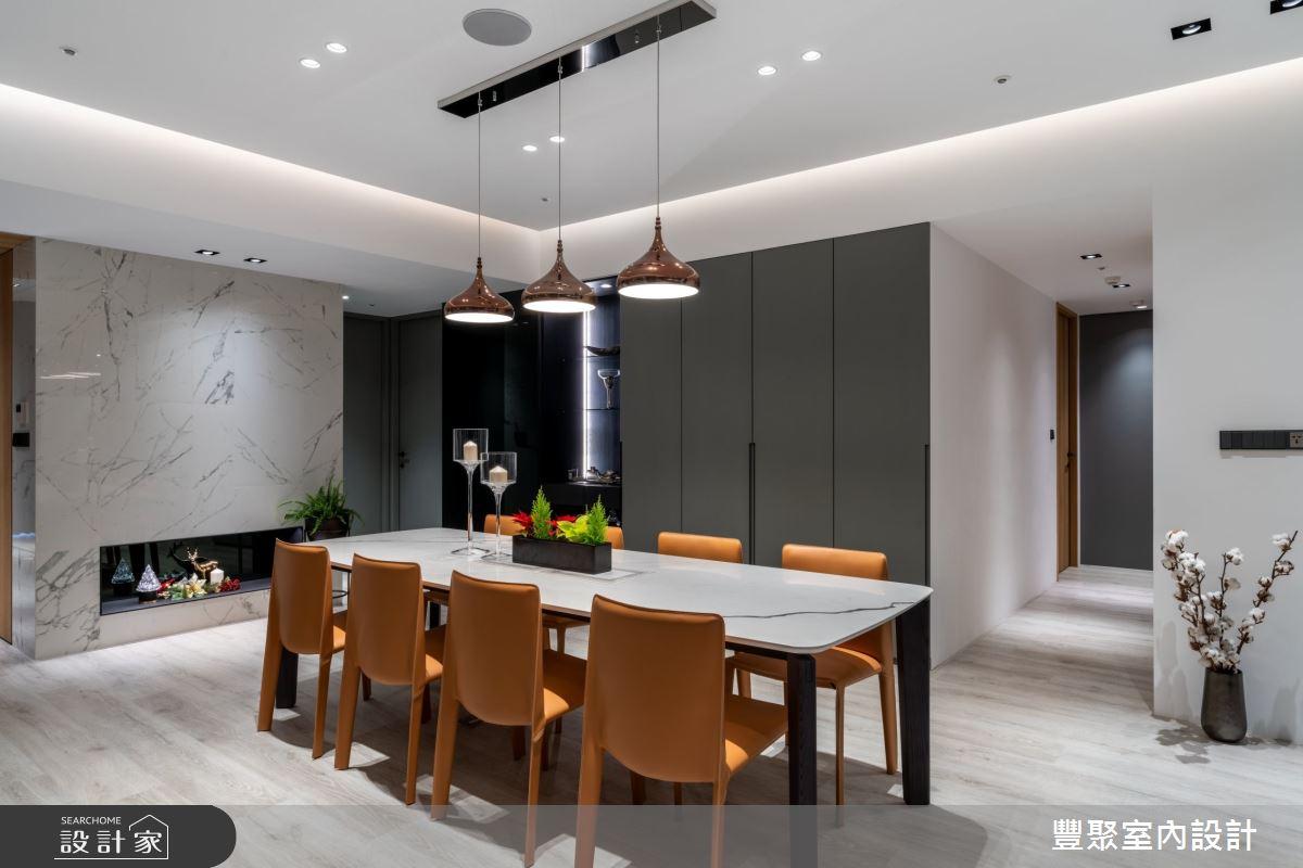 67坪新成屋(5年以下)_現代風餐廳案例圖片_豐聚室內設計_豐聚_34之3