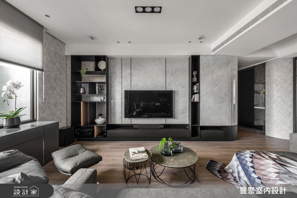 43坪新成屋(5年以下)_現代風客廳案例圖片_豐聚室內設計_豐聚_35之3