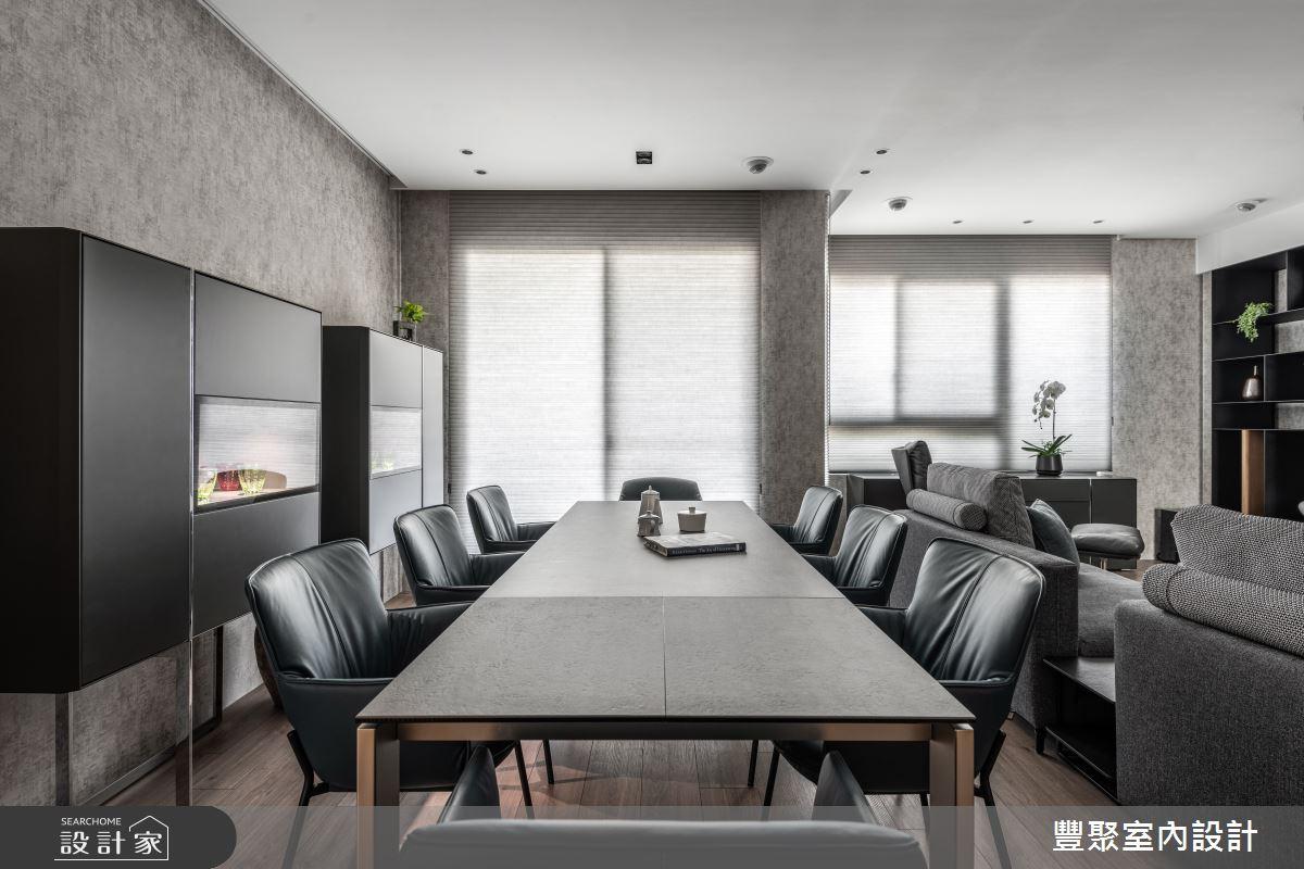 43坪新成屋(5年以下)_現代風餐廳案例圖片_豐聚室內設計_豐聚_35之2