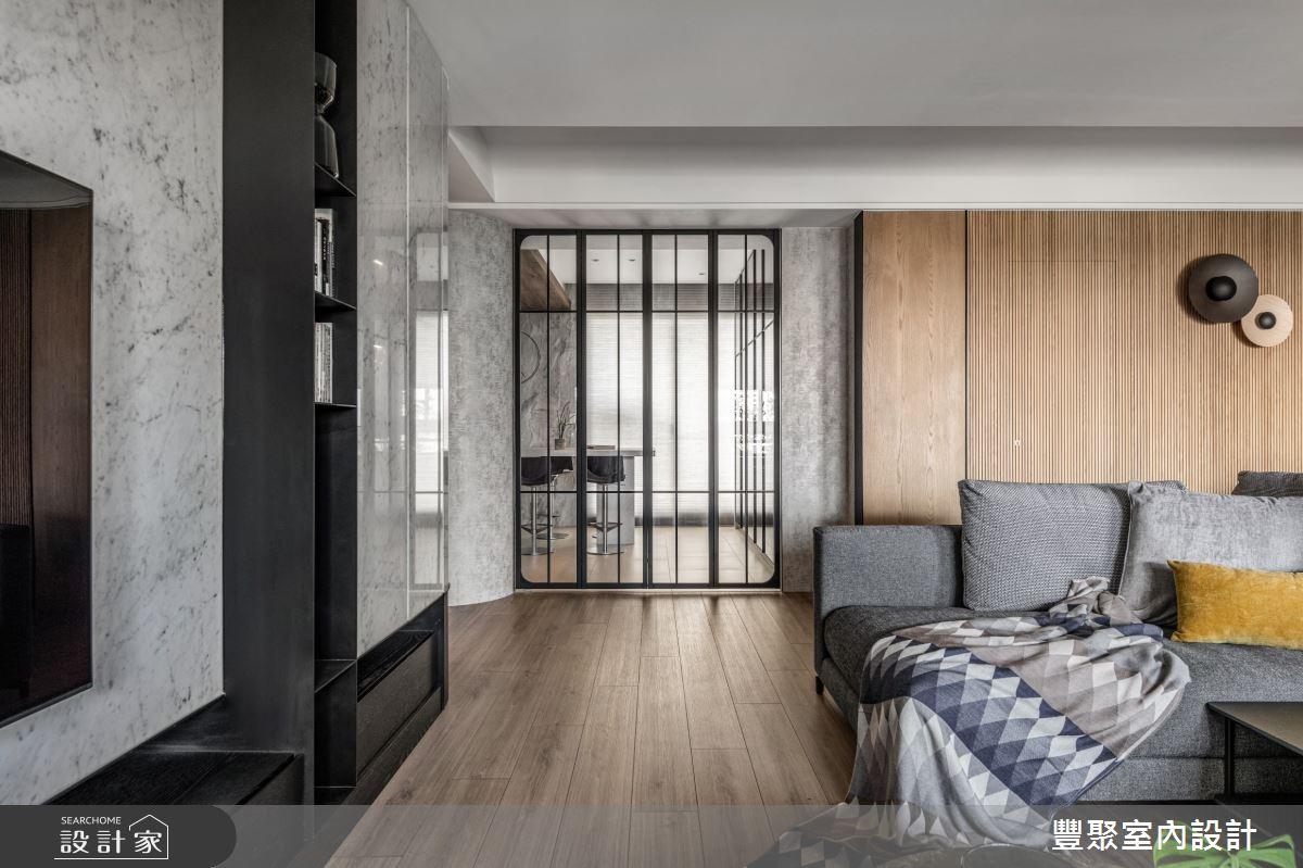 43坪新成屋(5年以下)_現代風客廳案例圖片_豐聚室內設計_豐聚_35之4
