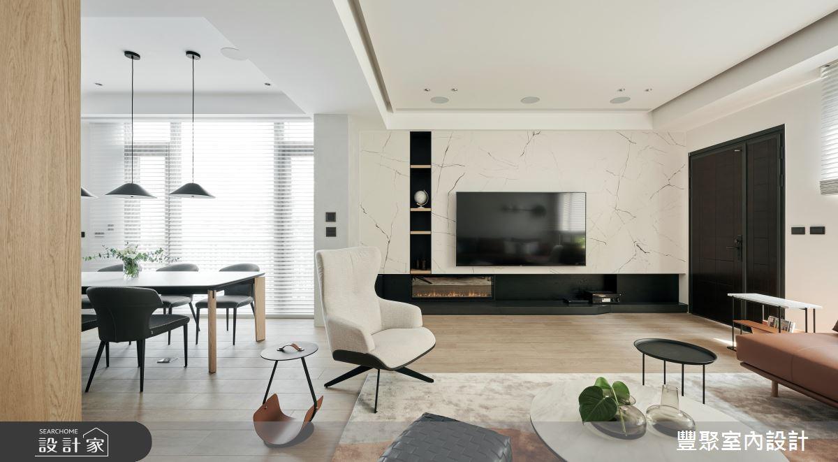 90坪新成屋(5年以下)_現代風案例圖片_豐聚室內設計_豐聚_36之2