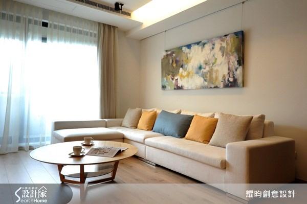 42坪新成屋(5年以下)_北歐風客廳案例圖片_耀昀創意設計_耀昀_02之1