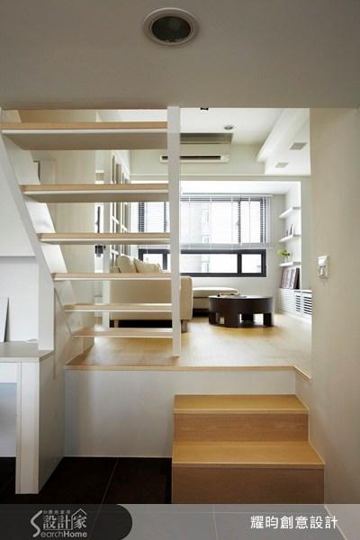 20坪新成屋(5年以下)_美式風客廳樓梯案例圖片_耀昀創意設計_耀昀_08之12