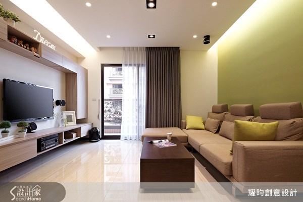 25坪新成屋(5年以下)_簡約風客廳案例圖片_耀昀創意設計_耀昀_14之1