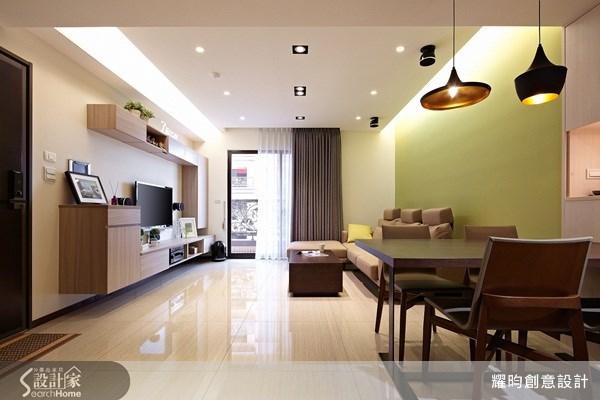 25坪新成屋(5年以下)_簡約風玄關客廳餐廳案例圖片_耀昀創意設計_耀昀_14之3