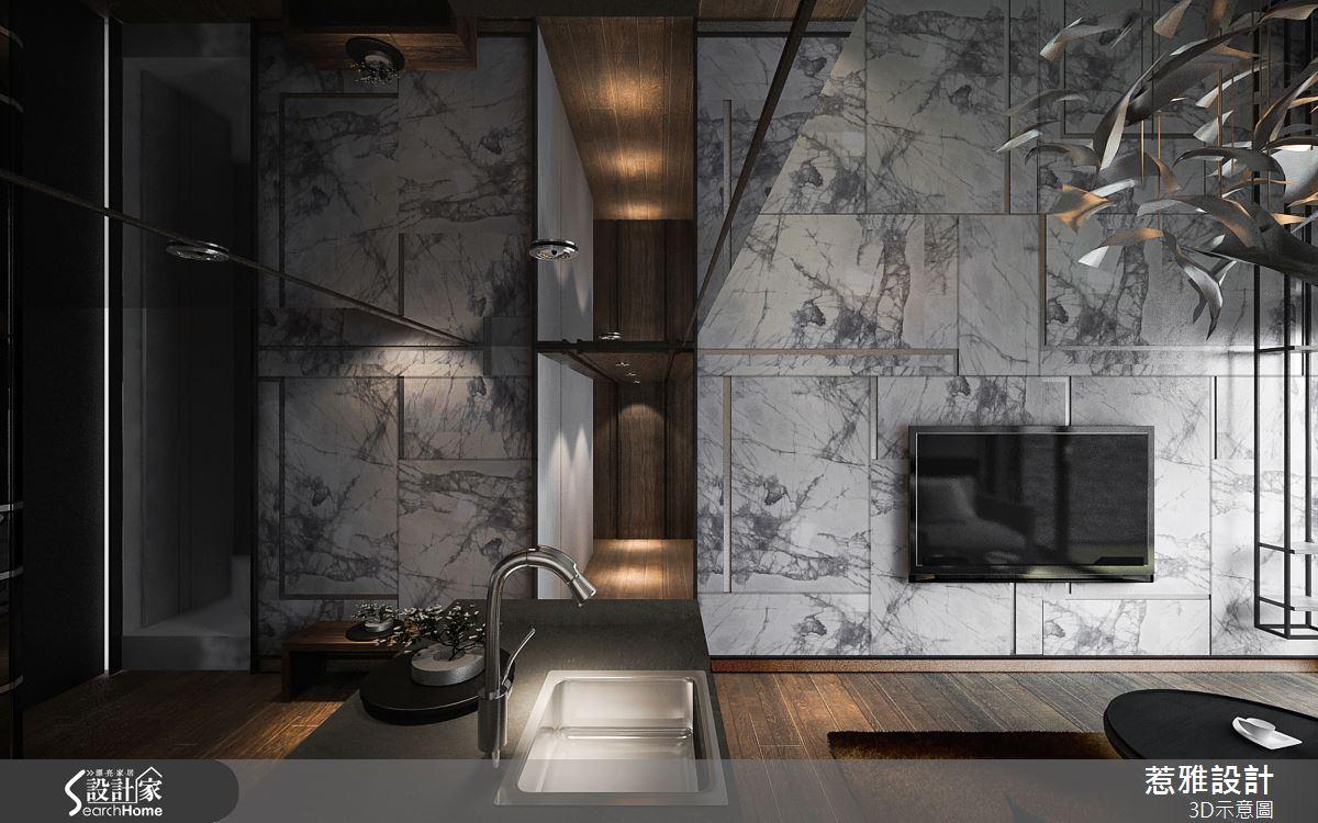 凝鍊精度的混搭風範 與大宅氣勢軒輊難分的 20 坪藝術宅!