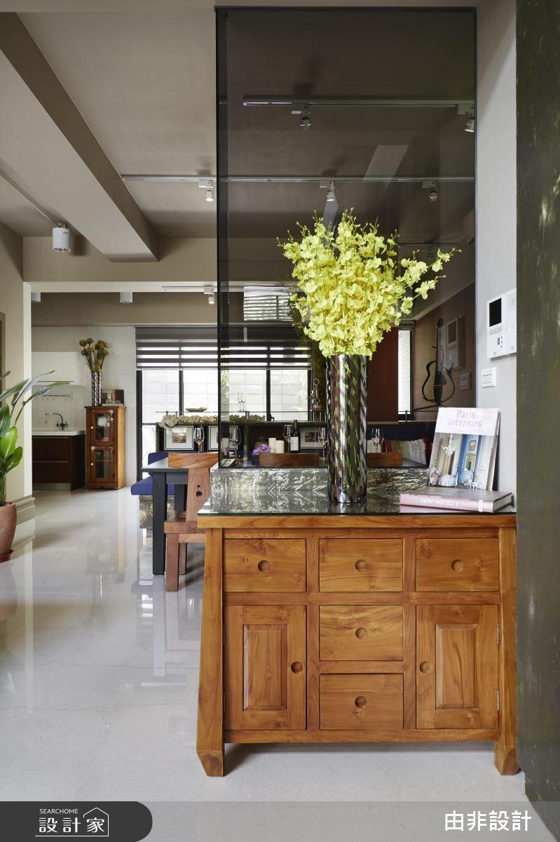 50坪新成屋(5年以下)_休閒風玄關客廳案例圖片_由非設計有限公司_由非_12之1