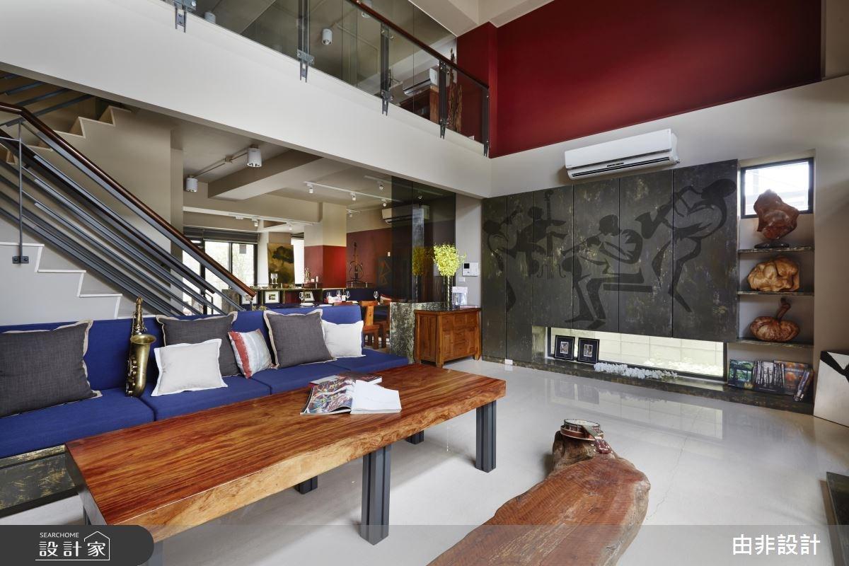 50坪新成屋(5年以下)_休閒風客廳樓梯案例圖片_由非設計有限公司_由非_12之2
