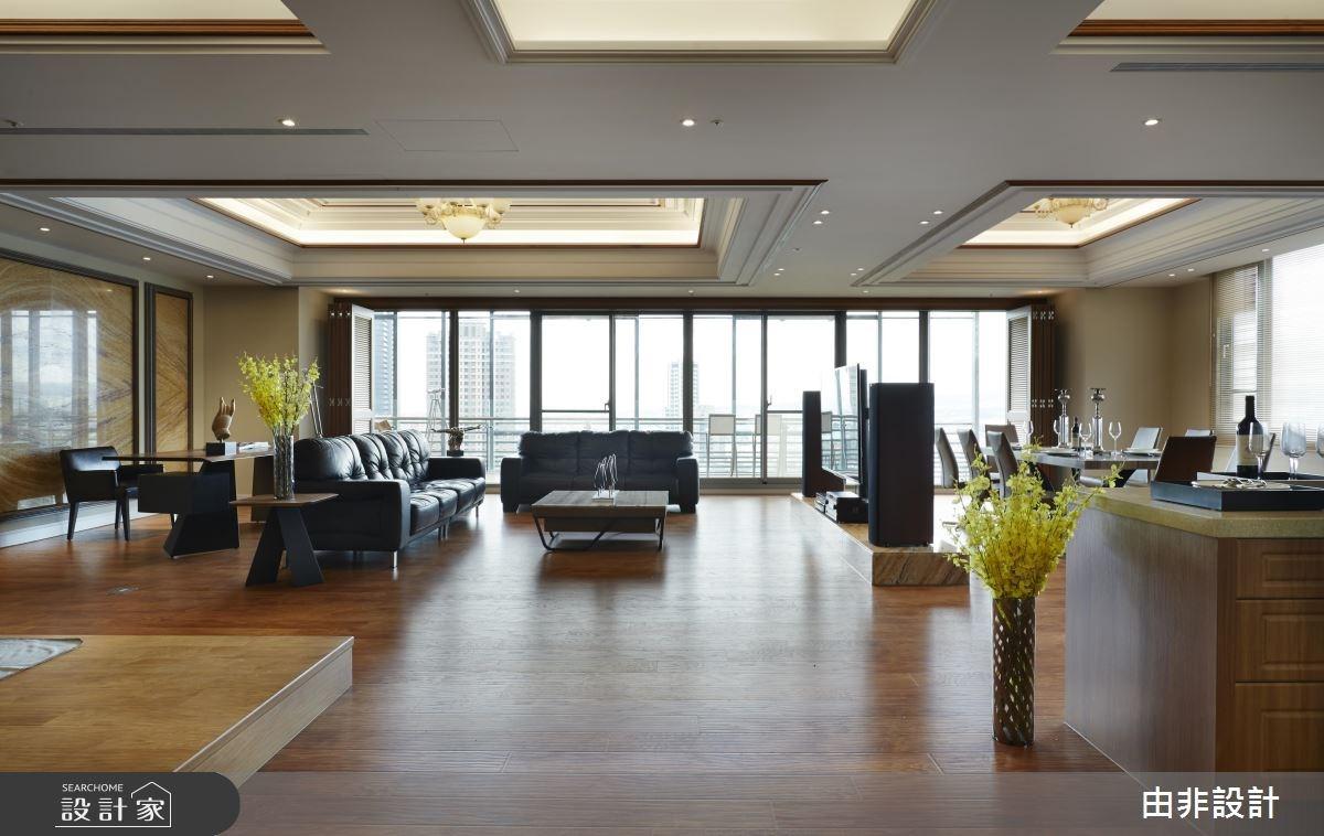 80坪_混搭風客廳餐廳書房案例圖片_由非設計有限公司_由非_13之1