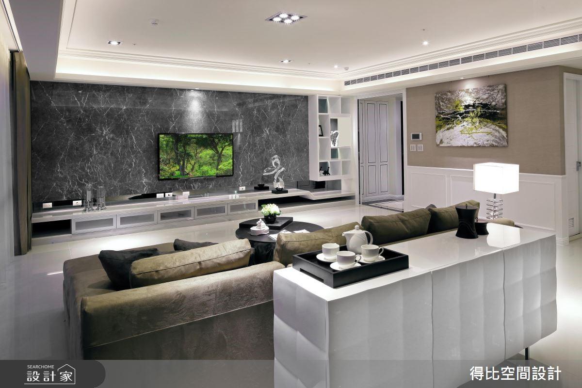50坪新成屋(5年以下)_新古典客廳案例圖片_得比空間設計有限公司_得比_04之6
