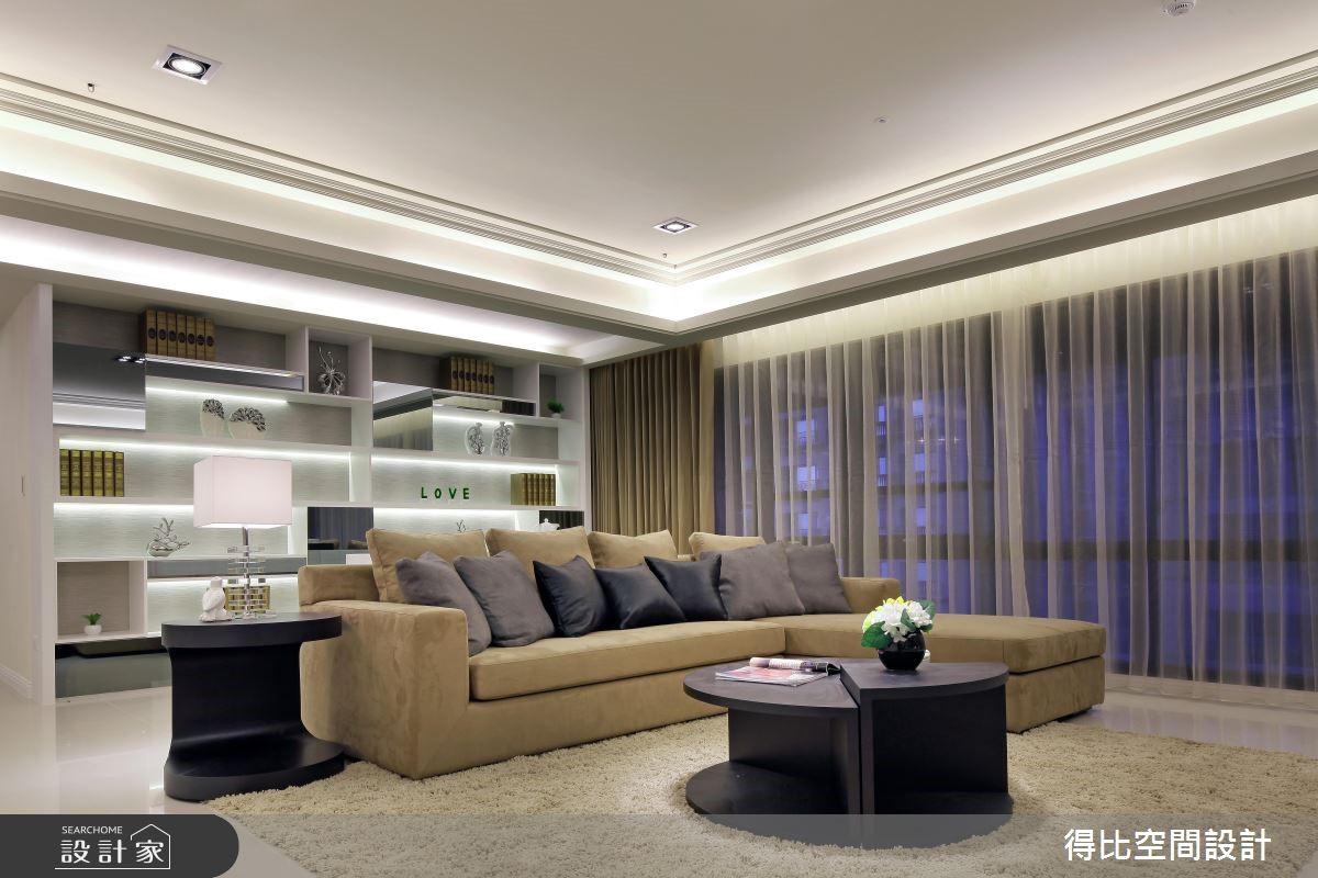50坪新成屋(5年以下)_新古典客廳案例圖片_得比空間設計有限公司_得比_04之2