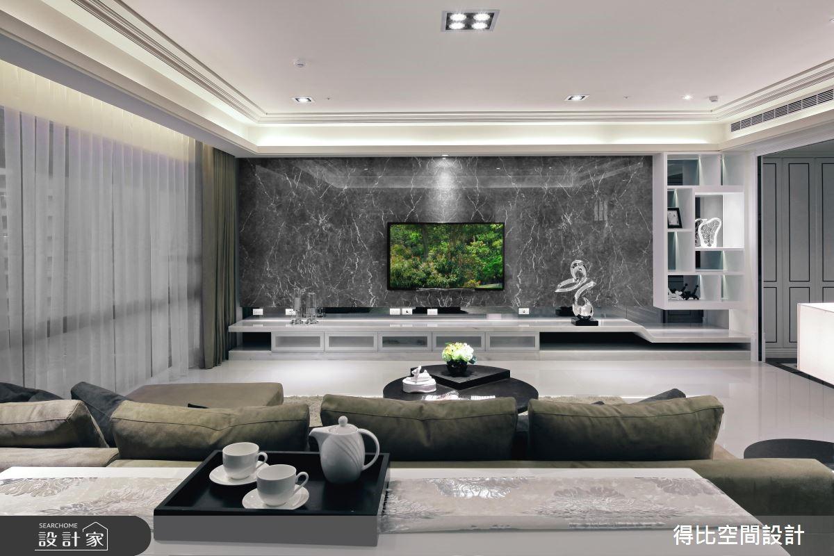 50坪新成屋(5年以下)_新古典客廳案例圖片_得比空間設計有限公司_得比_04之5