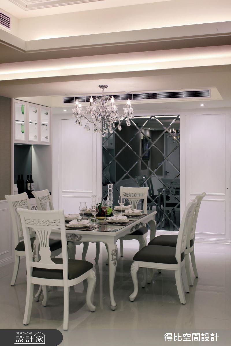 50坪新成屋(5年以下)_新古典餐廳案例圖片_得比空間設計有限公司_得比_04之8