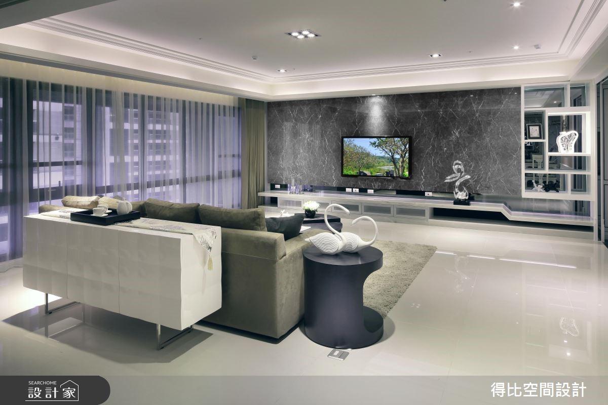 50坪新成屋(5年以下)_新古典客廳案例圖片_得比空間設計有限公司_得比_04之7