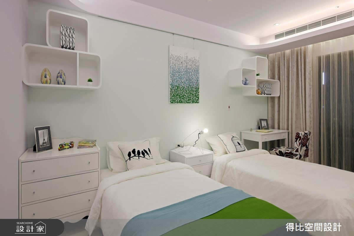 50坪新成屋(5年以下)_新古典臥室案例圖片_得比空間設計有限公司_得比_04之11