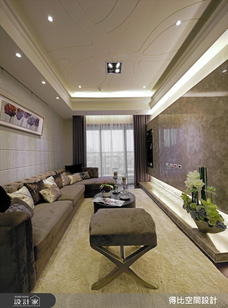 27坪新成屋(5年以下)_現代風客廳案例圖片_得比空間設計有限公司_得比_05之2
