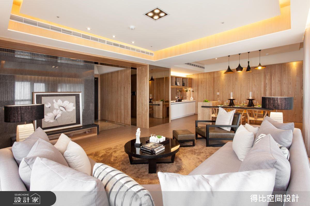 50坪新成屋(5年以下)_休閒風客廳案例圖片_得比空間設計有限公司_得比_06之4