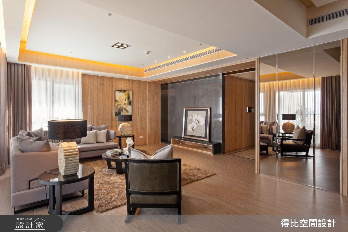 50坪新成屋(5年以下)_休閒風客廳案例圖片_得比空間設計有限公司_得比_06之2