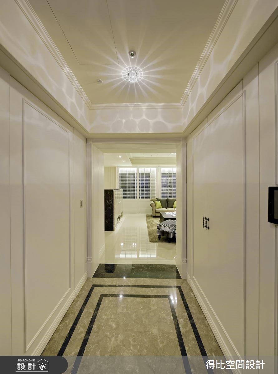 50坪新成屋(5年以下)_新古典玄關案例圖片_得比空間設計有限公司_得比_07之2