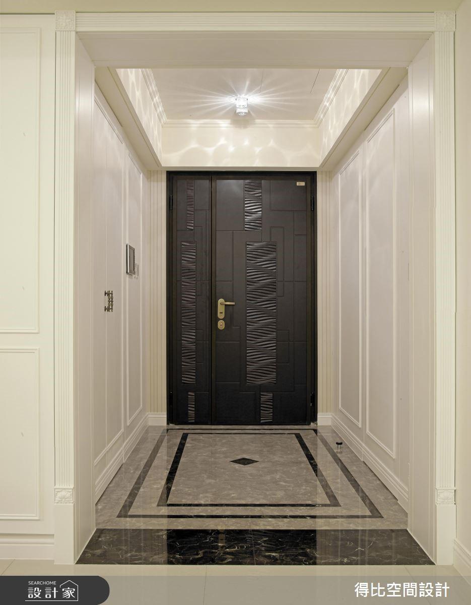 50坪新成屋(5年以下)_新古典玄關案例圖片_得比空間設計有限公司_得比_07之1