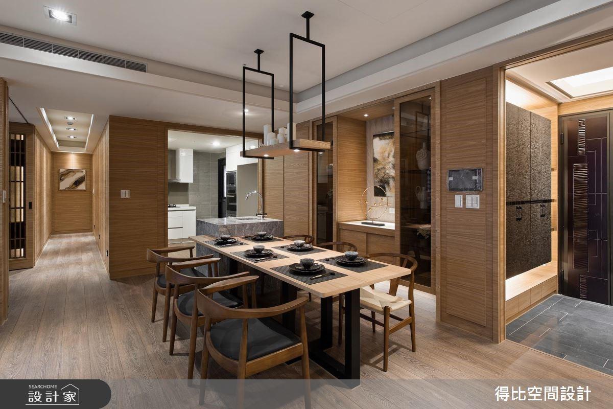 42坪新成屋(5年以下)_現代風餐廳案例圖片_得比空間設計有限公司_得比_08之2