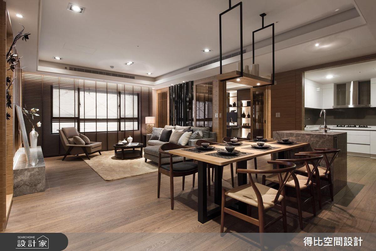 42坪新成屋(5年以下)_現代風客廳餐廳案例圖片_得比空間設計有限公司_得比_08之3