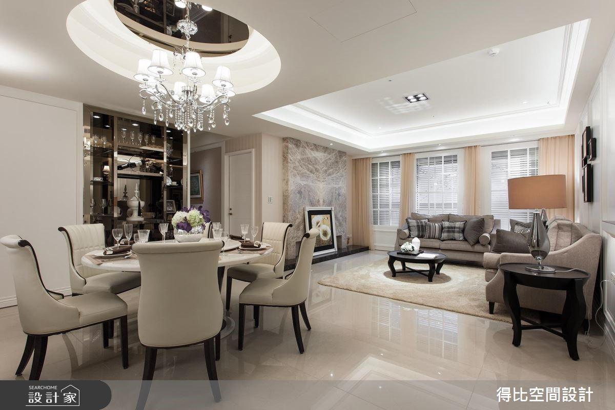 42坪新成屋(5年以下)_美式風客廳餐廳案例圖片_得比空間設計有限公司_得比_09之5