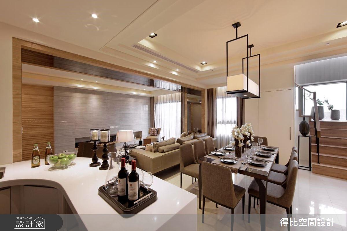 70坪新成屋(5年以下)_簡約風餐廳吧檯案例圖片_得比空間設計有限公司_得比_11之5