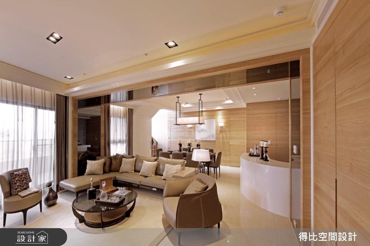 70坪新成屋(5年以下)_簡約風客廳案例圖片_得比空間設計有限公司_得比_11之3