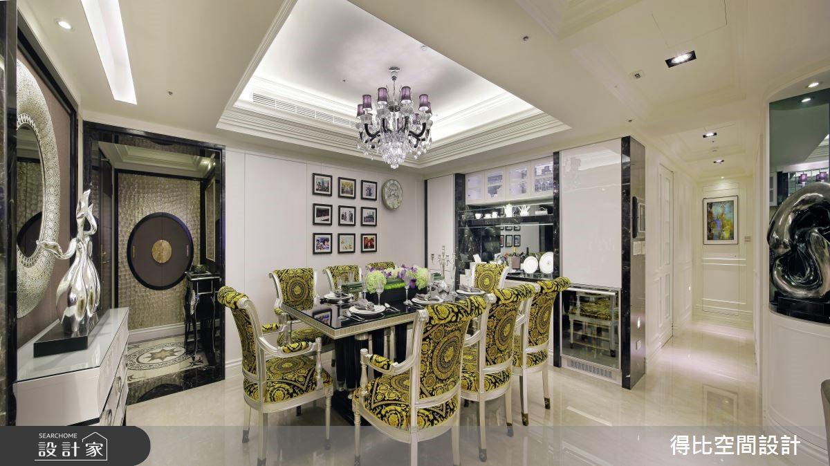 45坪新成屋(5年以下)_新古典玄關餐廳案例圖片_得比空間設計有限公司_得比_19之4