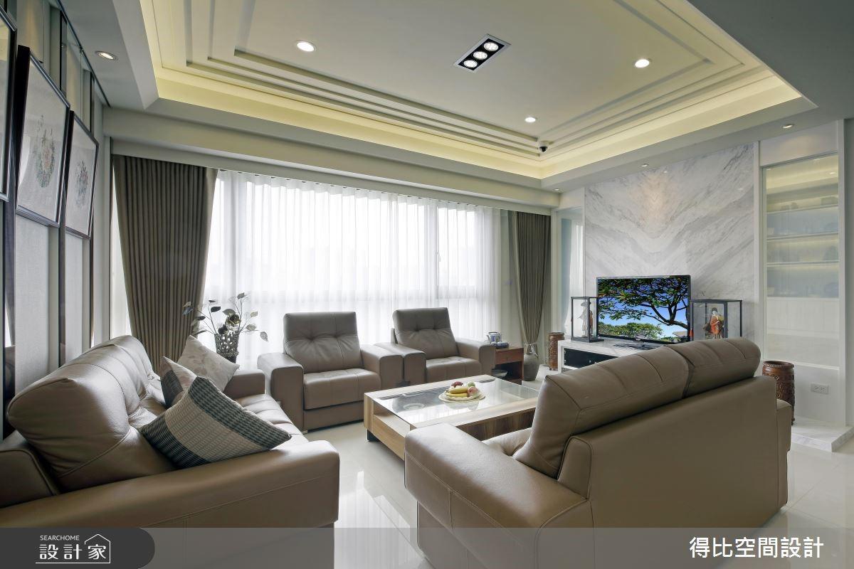 45坪新成屋(5年以下)_現代風客廳案例圖片_得比空間設計有限公司_得比_20之5