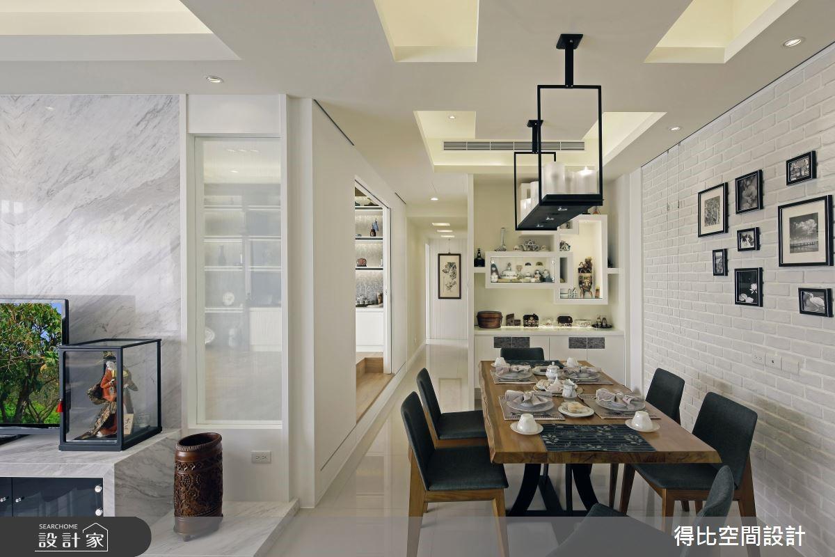 45坪新成屋(5年以下)_現代風餐廳走廊案例圖片_得比空間設計有限公司_得比_20之4