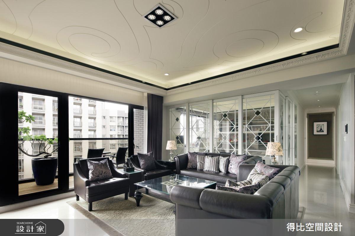43坪新成屋(5年以下)_新古典客廳走廊案例圖片_得比空間設計有限公司_得比_22之4
