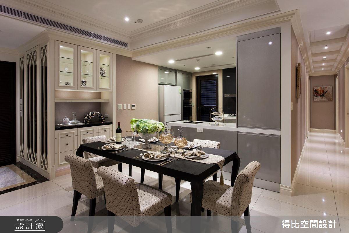 40坪新成屋(5年以下)_新古典餐廳廚房走廊案例圖片_得比空間設計有限公司_得比_24之2