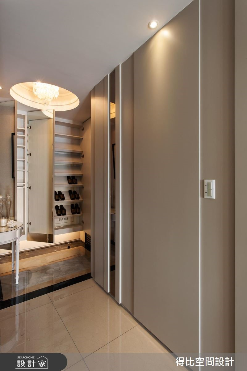 28坪新成屋(5年以下)_奢華風玄關案例圖片_得比空間設計有限公司_得比_25之3