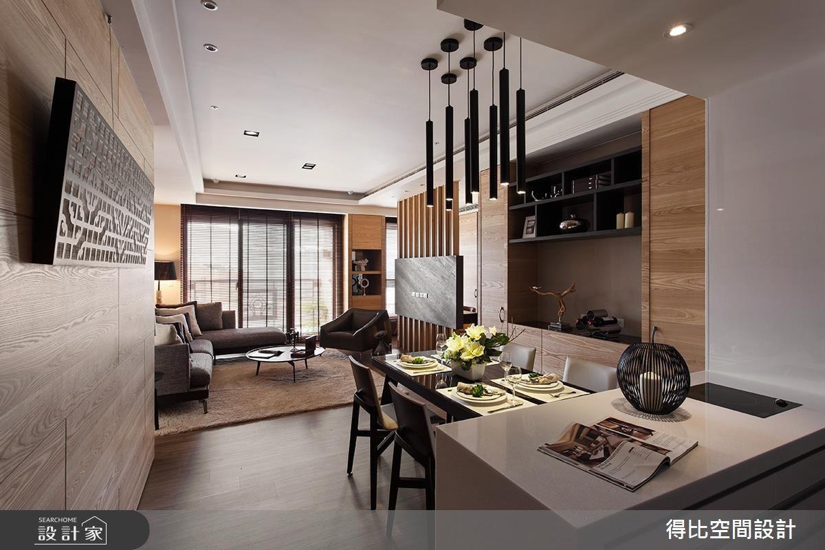 28坪新成屋(5年以下)_現代風餐廳吧檯案例圖片_得比空間設計有限公司_得比_26之4
