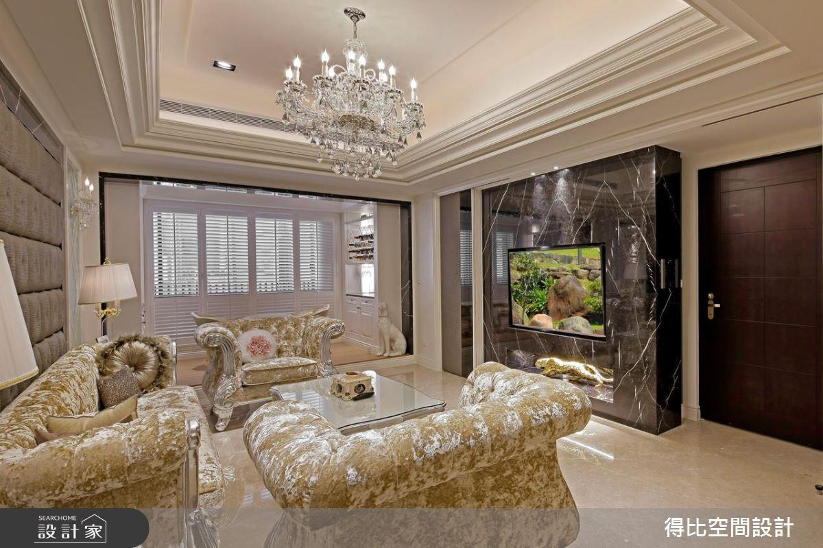 52坪新成屋(5年以下)_新古典客廳案例圖片_得比空間設計有限公司_得比_27之1