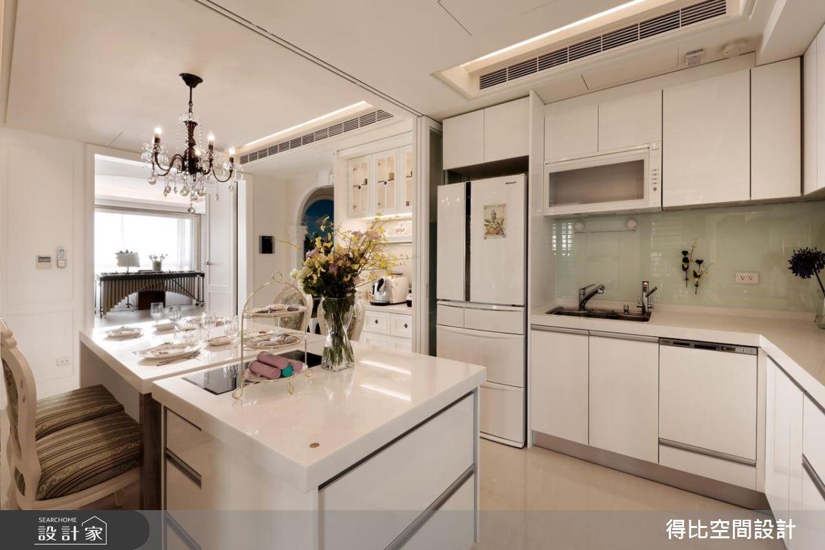 40坪新成屋(5年以下)_美式風餐廳廚房吧檯案例圖片_得比空間設計有限公司_得比_28之6
