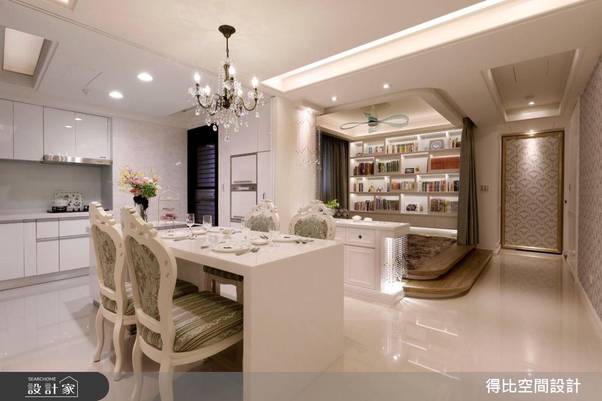 40坪新成屋(5年以下)_美式風餐廳廚房書房案例圖片_得比空間設計有限公司_得比_28之9