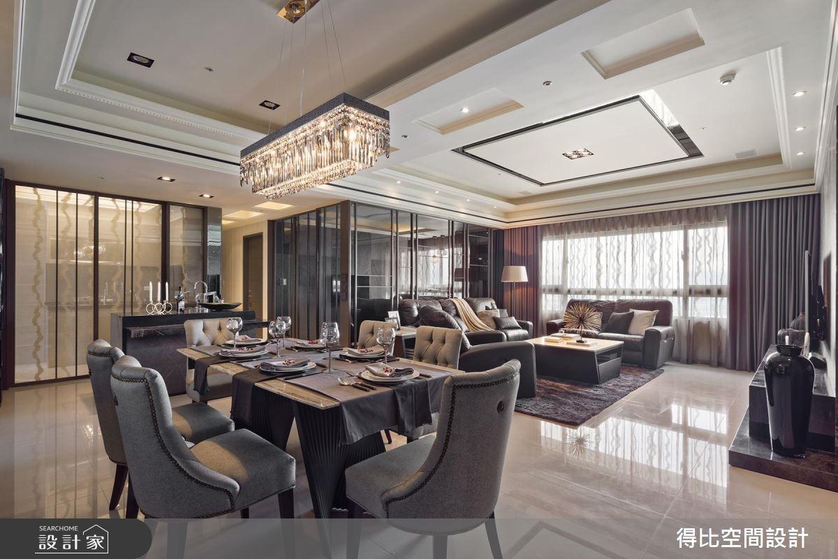 48坪新成屋(5年以下)_奢華風餐廳廚房案例圖片_得比空間設計有限公司_得比_30之2