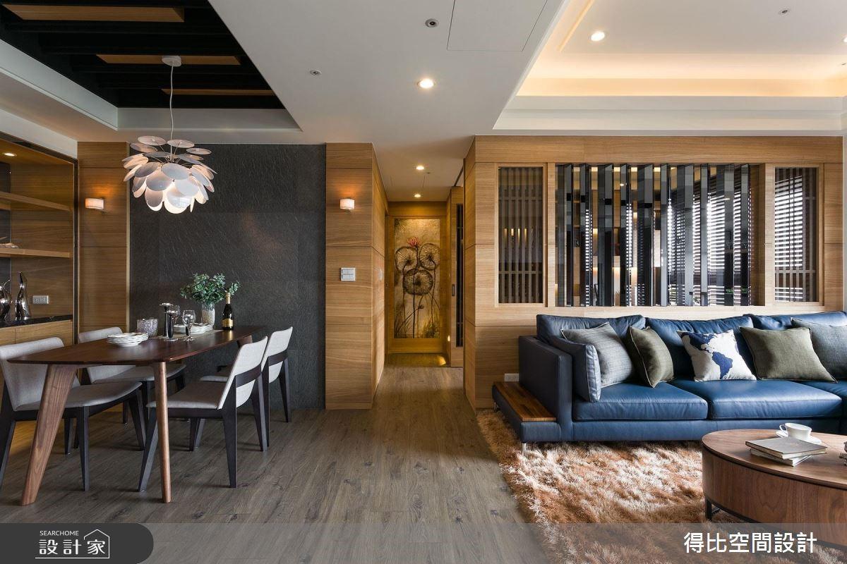 26坪新成屋(5年以下)_休閒風客廳餐廳走廊案例圖片_得比空間設計有限公司_得比_31之4