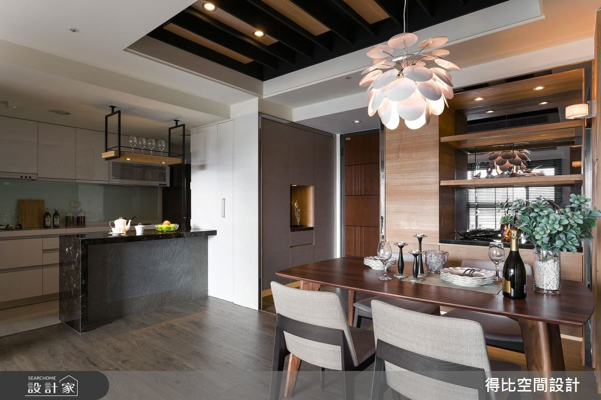 26坪新成屋(5年以下)_休閒風玄關餐廳廚房吧檯案例圖片_得比空間設計有限公司_得比_31之3