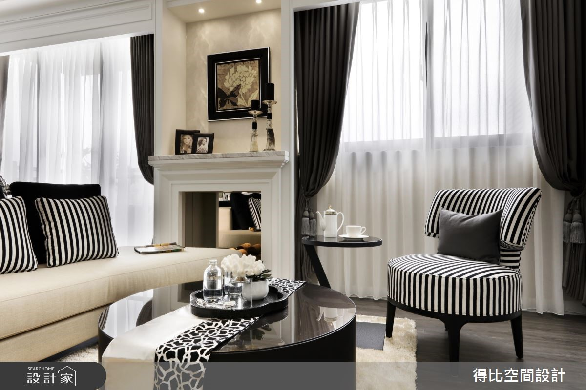 28坪新成屋(5年以下)_新古典客廳案例圖片_得比空間設計有限公司_得比_32之5