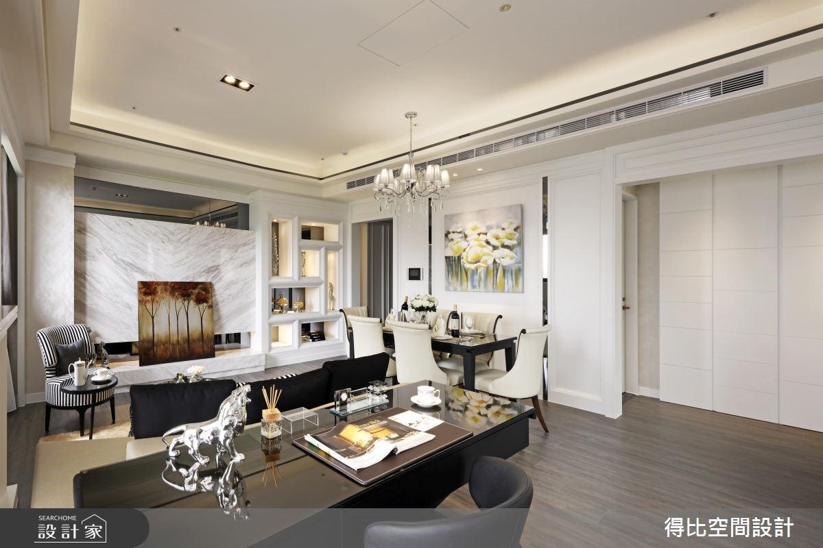 28坪新成屋(5年以下)_新古典客廳書房案例圖片_得比空間設計有限公司_得比_32之9