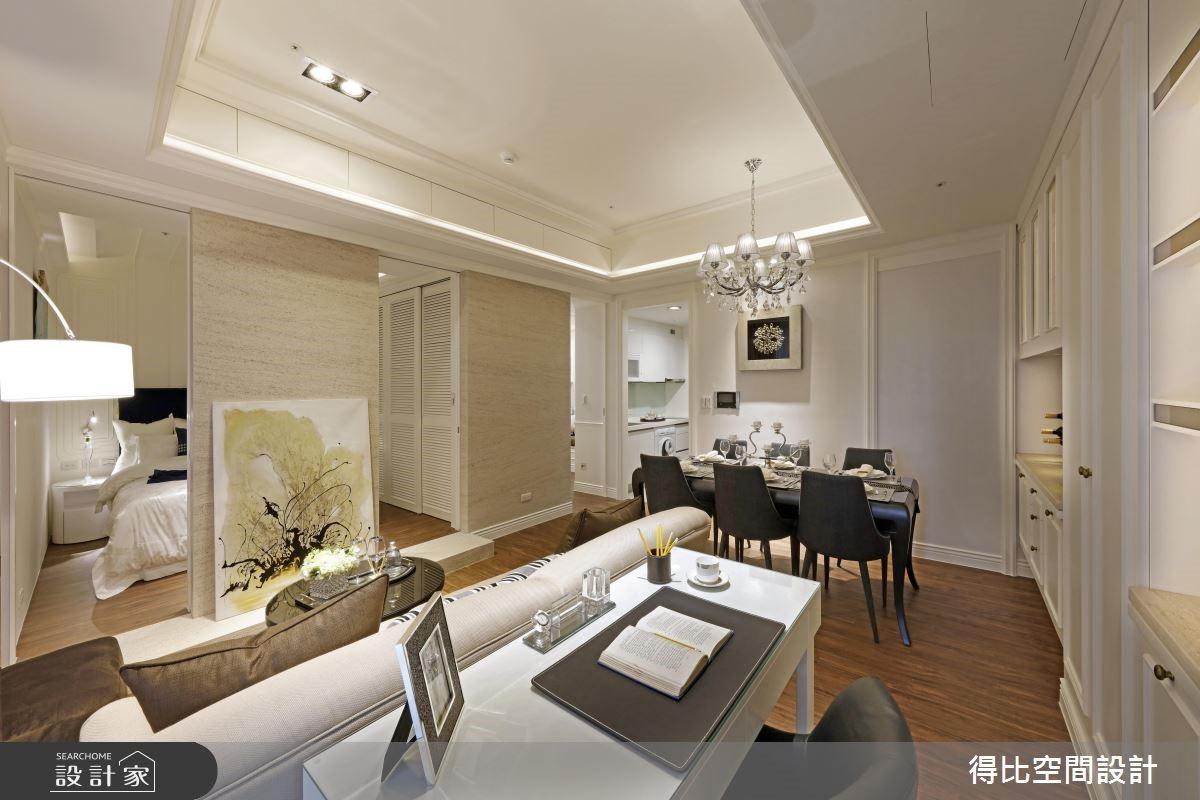 17坪新成屋(5年以下)_新古典客廳工作區案例圖片_得比空間設計有限公司_得比_35之4