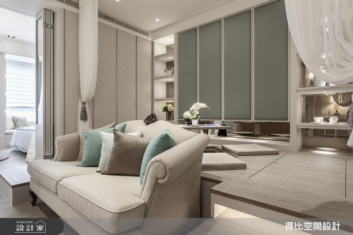 15坪新成屋(5年以下)_美式風客廳和室案例圖片_得比空間設計有限公司_得比_36之5